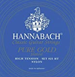 Hannabach Strings for classic guitar Series 825 High tension specialized gold plated H/2 single string