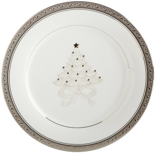 Crestwood Platinum Accent - Noritake Crestwood Platinum 9-Inch Holiday Accent Plates, Set of 4