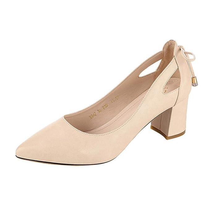 Zapatos de tacón bajo de mujer, Covermason Sandalias planas de moda punk tobillo sandalias simples: Amazon.es: Ropa y accesorios