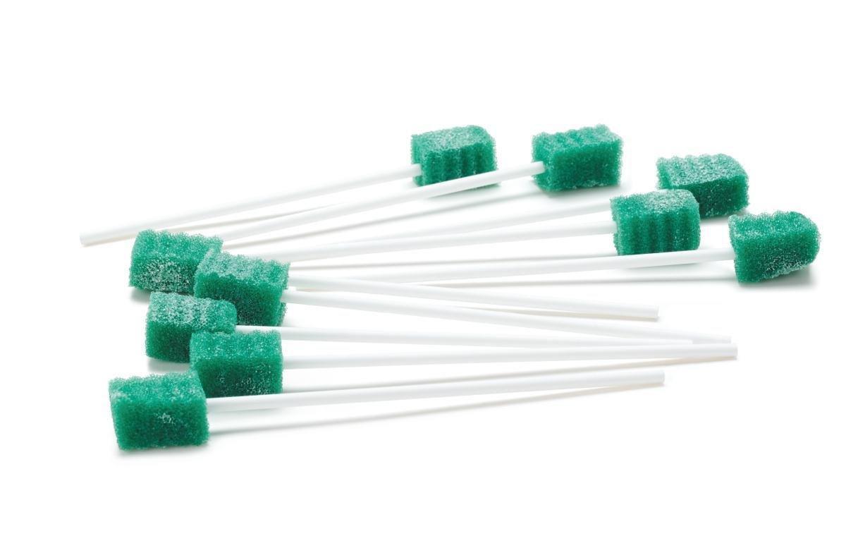 Medline Dentips Oral Swabsticks, Green, 1000 Count