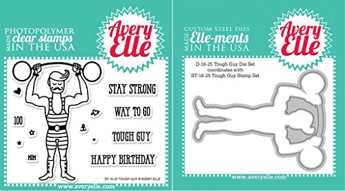 Avery Elle Tough Guy Clear Stamps and Elle-ments Die Set by Avery Elle