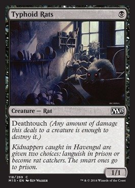 - Typhoid Rats (118/269) - Magic 2015 - Foil ()