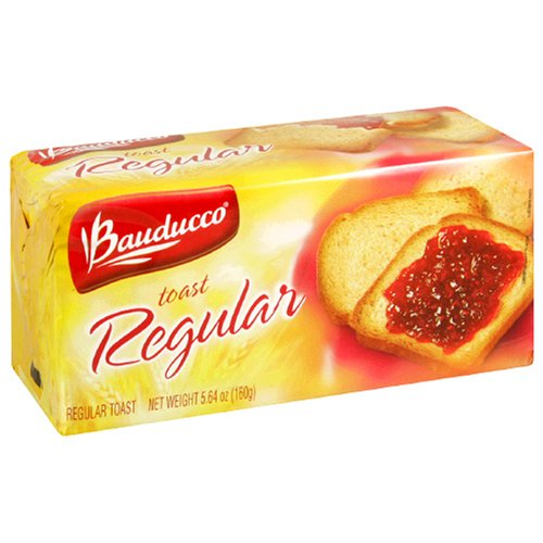 Bauducco Toast, Regular, 5.64-Ounce packs (Pack of 16) by Bauduccor