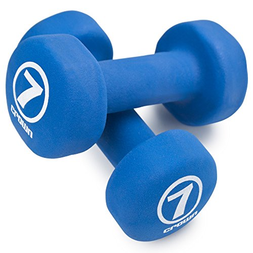 Crown Sporting Goods Pair of Neoprene Body Sculpting Hand Weights