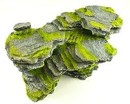 Large Rock With Moss Aquarium Ornament