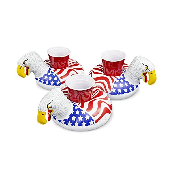 GoFloats Inflatable Pool Drink Holders (3 Pack) Designed in the US - Huge Selection from Unicorn, Flamingo, Palm and… 4