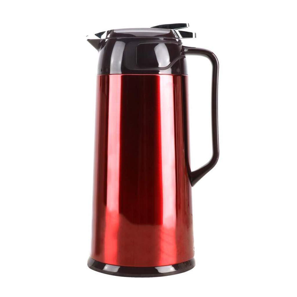 Coffee Pot Food-Grade Stainless Steel Thermal Carafe Vacuum Jug Flask Water Pitcher with Lid Handle (Size : 1.6L)