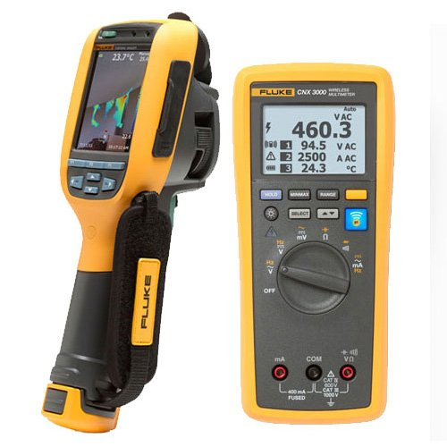 Fluke FLK-TI125/IND 30HZ Industrial Commercial Thermal Imager with FLK-CNX 3000 IND
