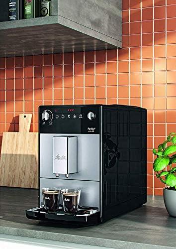 Melitta, Purista, Argent, F230-101 Machine à Expresso Automatique avec broyeur à grain, Compacte, Silencieuse