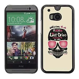 GOODTHINGS ( NO PARA HTC ONE MINI 2) Funda Imagen Diseño Carcasa Tapa Trasera Negro Cover Skin Case para HTC One M8 - última unidad cráneo arte del libro de la película de color rosa
