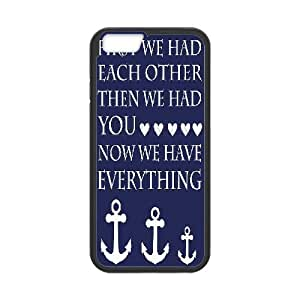 iPhone 6 Plus Case Navy Blue and White Anchor Family Nursery, Iphone 6 Plus Case For Women Luxury - [Black] Jumphigh