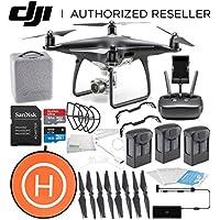 DJI Phantom 4 PRO Obsidian Edition Drone Quadcopter (Black) Ultimate Landing Pad Bundle