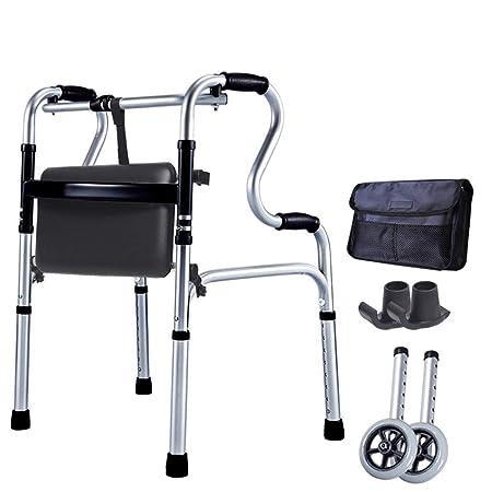 YX El Andador de Aluminio para Caminante Plegable Walker de ...