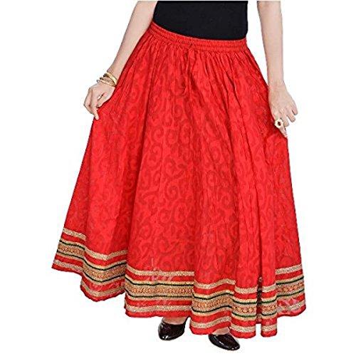 Women's SKT597 Flare Free Size Red Skirt pFRwq8rp
