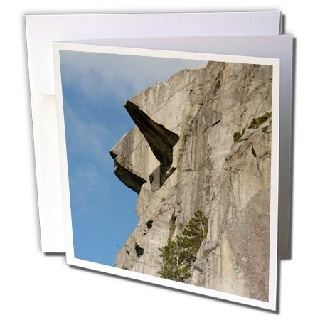 (3dRose Norway, Stavanger, Pulpit Rock Cliff - Greeting Cards, 6 x 6