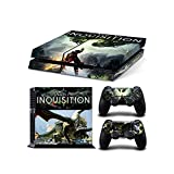 Sony PlayStation 4 Skin Decal Sticker Set - Dragon Age Inquisition Theme (1 Console Sticker + 2 Controller Stickers)