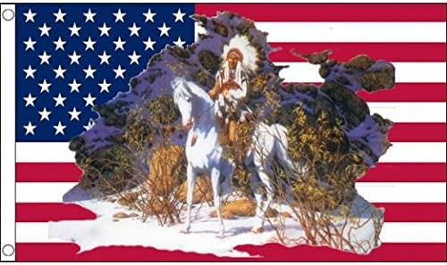 End Of The Trail 3x5 Polyester Flag Horse United States