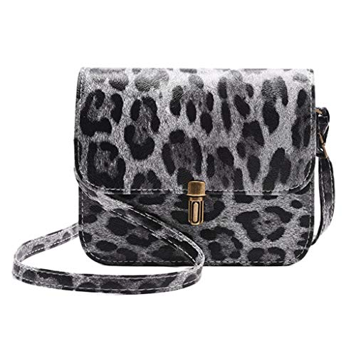 ❤️ Sunbona Shoulder Bags for Women Fashion Womens Leopard Print Fawn Pendant Shoulder Bag Messenger Bag Phone Bag (C)
