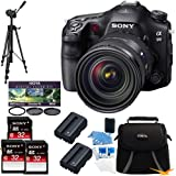 Sony SLTA99V Alpha SLT-A99V A99 SLT-A99 Full-Frame 24.3 MP SLR Digital Camera with 3-Inch LED - Sony 24 -70mm f/2.8 BUNDLE with 32GB High Speed Card (Qty 3),Deluxe Hoya Filter Kit, Spare Batteries (Qty 2), Full Sized Tripod, Deluxe Padded Case + More