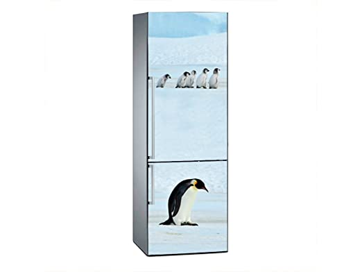 Oedim Vinilo para Frigorífico Pinguinos 185 x 60 cm | Adhesivo ...