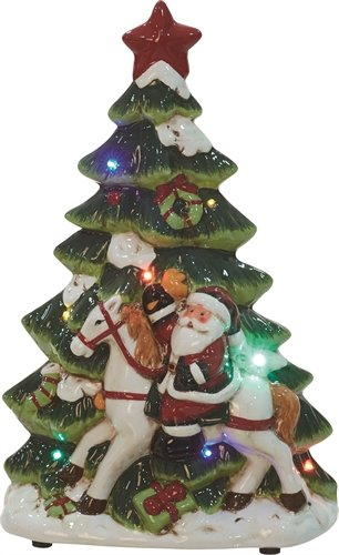 ceramic light up music christmas tree - Ceramic Light Up Christmas Tree