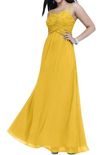 Toscana novia fácil Dos-Traeger vestidos de gasa por la noche vestido de largo bola