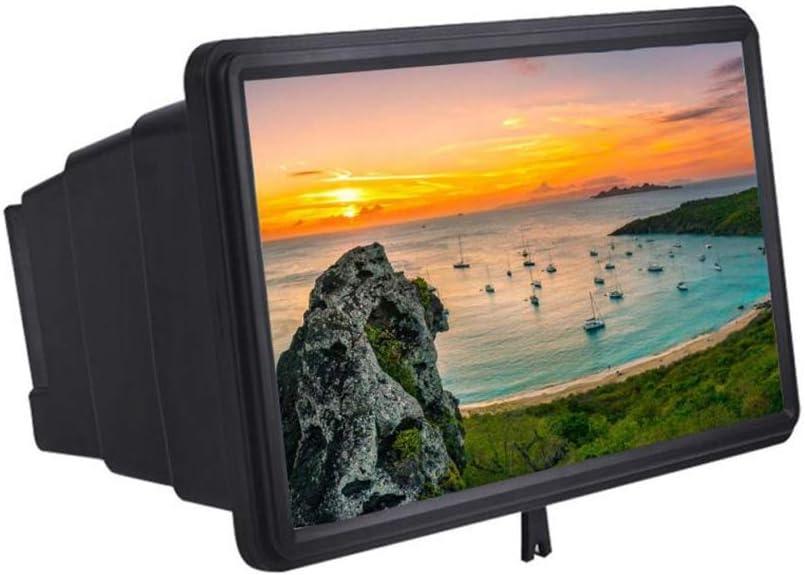SUNWUKONG 12 Pantalla Amplificador Smartphone 3D Aumentador Vaso Pantalla Ampliadora HD Película Vídeo Lupa Proyector con Plegable Soporte para Smartphone, Black: Amazon.es: Deportes y aire libre