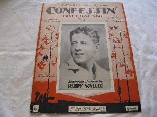CONFESSIN RUDY VALLEE 1930 SHEET MUSIC FOLDER 443 SHEET ()