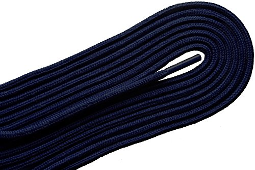 D-60 Fashion Thin Round Dress Navy Blue 63 inch Shoelaces 2 Pair ()