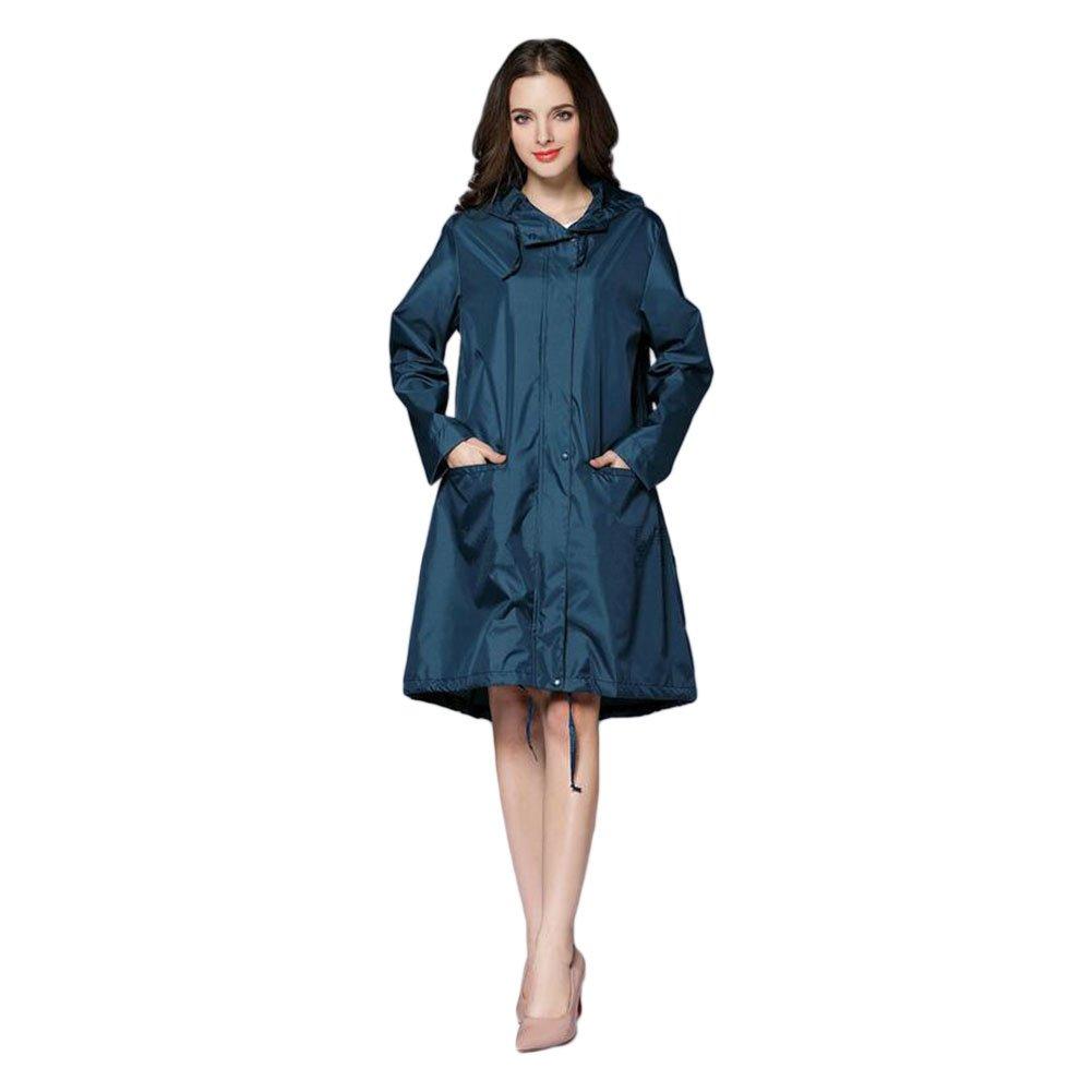 Meijunter Donne Raincoat Impermeabile Portatile All'aperto Escursionismo Giacca da pioggia Windbreaker chiusura lampo di Lighweight Poncho con cappuccio Rainwear