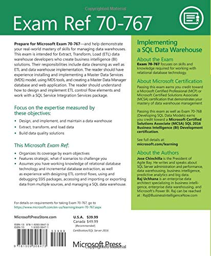 Exam Ref 70-767 Implementing a SQL Data Warehouse: Amazon co uk