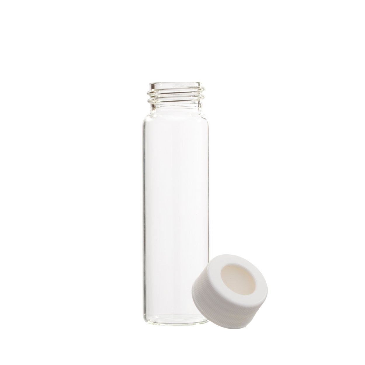 Greenwood Products 03-40BTS723 40mL Clear VOA Vial Assembled w/Open Top Bonded T/S Septa {HEAVY} Cap, Certified (72/cs)