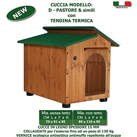Caseta para perro cucce de madera varias tallas: Amazon.es: Productos para mascotas