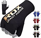 RDX Boxing Inner Mitts Hand Wraps MMA Fist Protector Bandages,Black,Small
