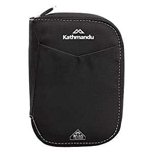 Kathmandu Small Departure RFIDtech Wallet AntiScan Safe Money/Bank Card/Passport Black