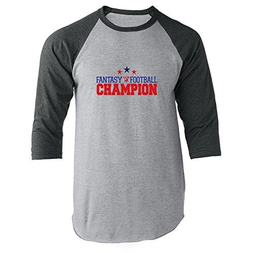mpion Gray L Raglan Baseball Tee Shirt ()