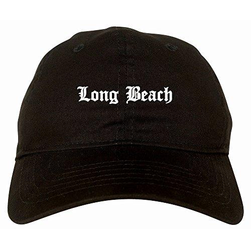 Kings Of NY Long Beach State City California CA 6 Panel Dad Hat Cap Black