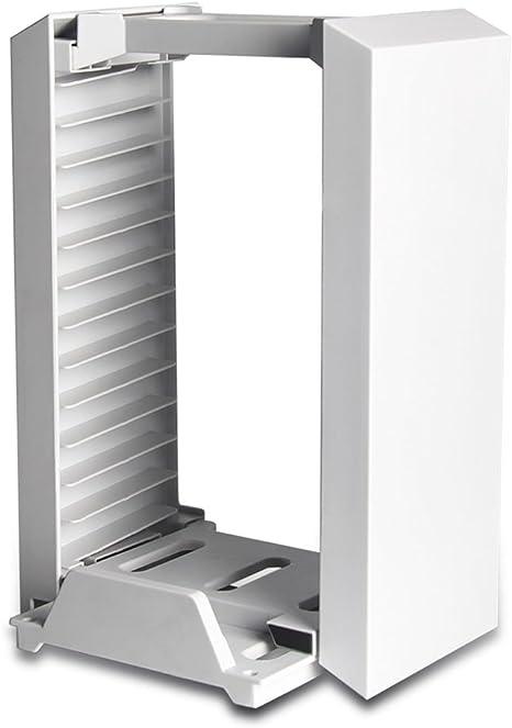 Games Storage Tower, Soporte Vertical - ElecGear blanco juego DVD ...