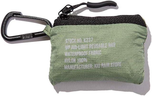 キウ(Kiu) レインバッグ カーキ - ウォータープルーフ エアライト エコバッグ K237-906KH