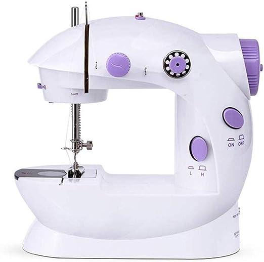 Máquina de coser portátil, máquina de coser eléctrica manual, de dos hilos de doble alimentación del