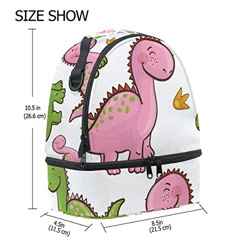 el Alinlo para la de aislante hombro almuerzo para pincnic con diseño correa escuela de con ajustable dinosaurio Bolsa de BqS7r1B