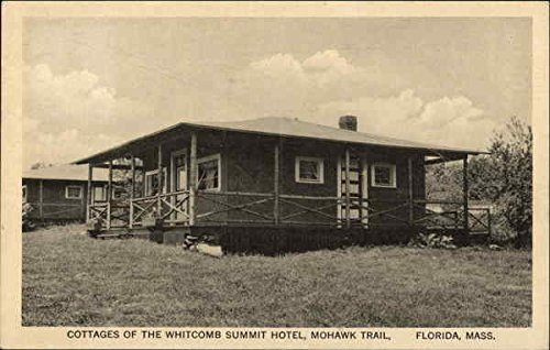 Cottages of the Whitcomb Summit Hotel, Mohawk Trail Florida, Massachusetts Original Vintage Postcard