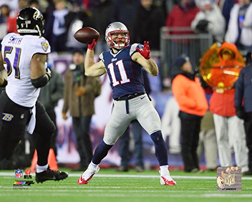 Julian Edelman New England Patriots Touchdown Pass Photo Size 8 X