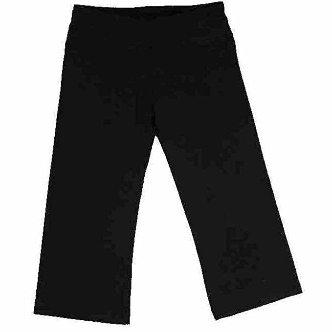 Amazon.com: Tuff Athletics Womens Stretch Yoga Negro Capris ...