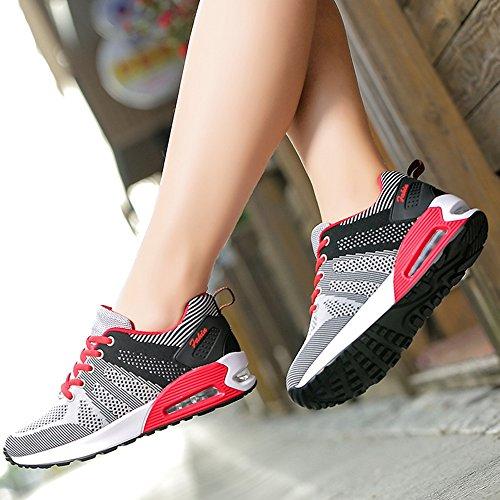 Deportivos A Respirables de Zapatos black Zapatos Nuevos ash Hasag de de Cojín Ocasionales Volante de Corrientes Aire Zapatos Malla Zapatos de Estudiantes Mujer Tejida Moda Zapatos gvSTqS