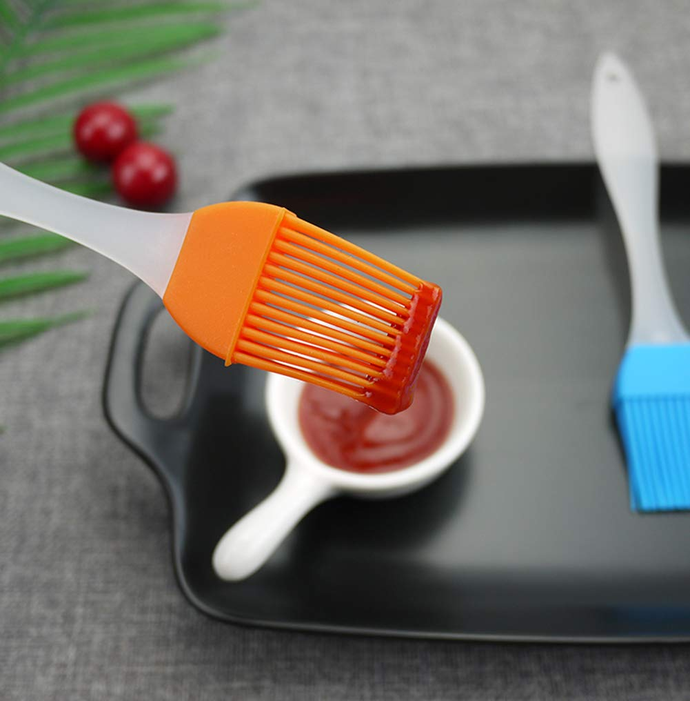 FDIO 5 Pcs Silicone Pastry/Basting/Oil Brush,Kitchen Gadgets for BBQ,Meat,Grilling,Cakes,(Multicolor) 7 MATERIAL: The oil brush head is made of food-grade silicone, which can withstand high temperature. The handle is environment-friendly PP which is non-toxic and durable FIVE COLOR TO CREATE FOOD: Including multiple colour 5 silicone brushes in one set, vibrant colors, avoid flavor crossing by using one color for different seasoning LIGHTWEIGHT DESIGN: The lightweight handle provides a soft comfortable firm grip making basting easy, quick and effortless coating action, can be used in many applications