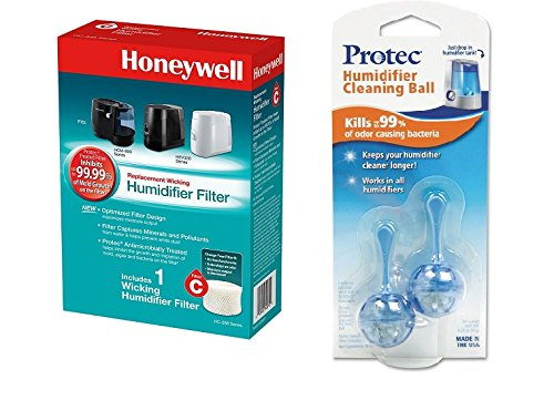 Honeywell HC-888N Replacement Humidifier Filter C and Humidifier Cartridge Bundle (Filter C and Cartridge Cleaner Bundle)