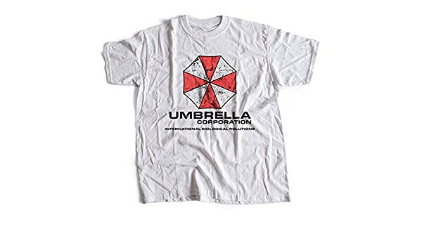 9138w Umbrella Corporation Mens T-Shirt Resident Evil Racoon City Stars Corp Sci-Fi Horror(Small, White): Amazon.es: Ropa y accesorios