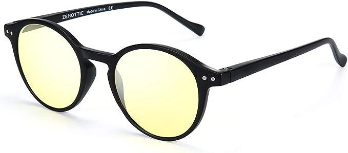 Herren Sonnenbrille  Auto HD Polarisierte Runder Vintage Fahren Brillen