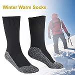 ZQYX-Calze-da-Sci-in-Lana-Che-Mantengono-La-Temperatura-Invernale-Calze-Invernali-Termiche-con-Cuscino-in-Spugna-Addensata-Calze-Calde-Ultra-Comfort-Calze-Sportive-da-Esterno-Calze-da-Sci